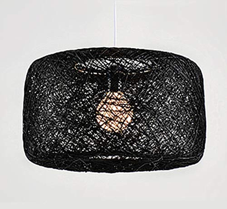 YIZHANGHanf ball kronleuchter schlafzimmer lampe studie garten wohnzimmer cafe atmosphre kreative restaurant bambus und rattan lampen 39  24 CM