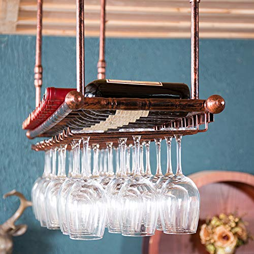 PQWPMNE Bar Creative Wine Glass Rack Upside Down European Wine Cup Holder Hanging Household Hanging Cup Holder Wine Glass Goblet Rack Black Black 200 Cm
