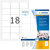 HERMA 10302リムーバブルラベルA4 63,5x46,6 mm白可動/取り外し可能紙マット1800個。