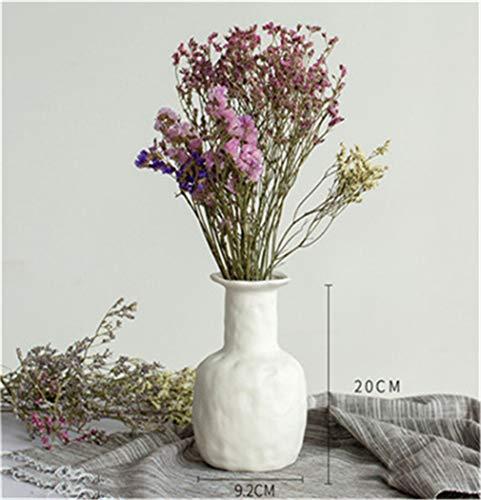 PRsellings Keramik Weiße Vase Figuren Getrocknete Blumen Gypsophila Kreative Blume Vase Ornamente Für Home Decoracion Wie Gezeigt Langer Hals L.