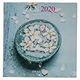 Draeger - Calendario de pared Zen 2020 grande - Cuadrícula mensual - 7 idiomas - Mezcla certificada FSC - Tinta vegetal - Calendario de pared Zen 2020 Formato grande 29x29cm