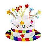 Boland 00932 - Hut Rainbow Pie, Regenbogen Kuchen, Happy Birthday, one size, Erwachsene, bunt, lustige Torte, Karneval, Geburtstagsparty, Mottoparty, Fasching, Theater, Accessoire