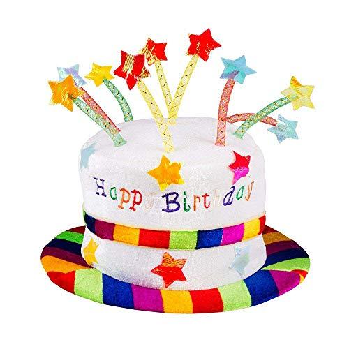 Boland 00932 - Hut Rainbow Pie, Regenbogen Kuchen, Happy Birthday, one size, Erwachsene, bunt, lustige Torte, Karneval, Geburtstagsparty, Mottoparty, Fasching, Theater,...