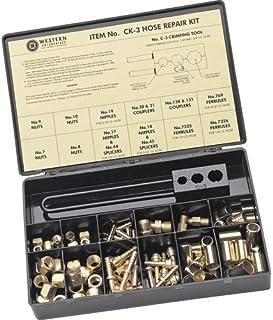 Western Enterprises CK-20 Other Hose Repair Kits, Fittings/Crimping Tool/Full Color Label/Description Chart, 0.5 Length, A...