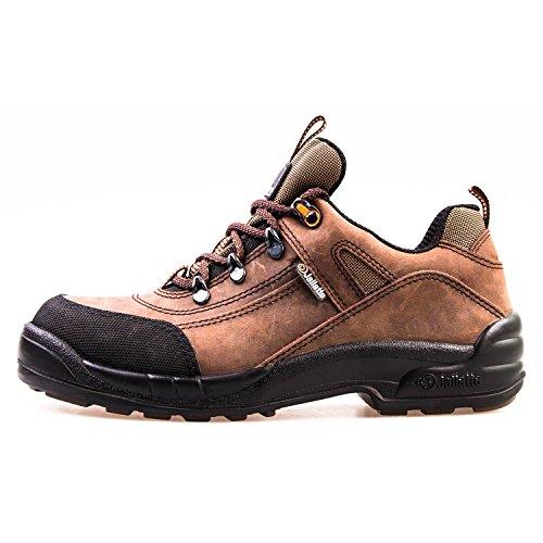 Sicherheitsschuh S3 HRO Jalatte® LOG298 Braun Herren - metallfrei, Schutzkappe aus Komposit, durchtrittsicher, hitzbeständige SOhle (44)