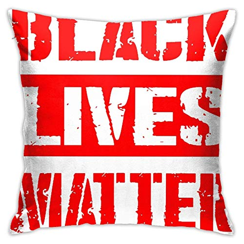 WH-CLA Throw Pillow Covers Black Lives Matters Fundas De Almohada para Sofá, Regalo para Coche, Fundas De Cojín, Fundas para Sofá, Cama Blanda, Oficina, 45X45 Cm, Decoración del Hogar, S