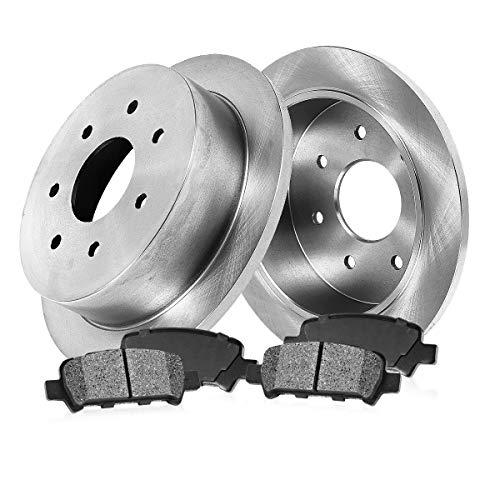 [ RWD ] REAR 334 mm Premium OE 7 Lug [2] Brake Disc Rotors + [4] Metallic Brake...