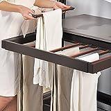LKP Estante Ajustable para Pantalones para Armario, Perchero Extraíble para Bufandas, Riel para Pantalones Extraíble 564mm / 664mm / 764mm / 864mm