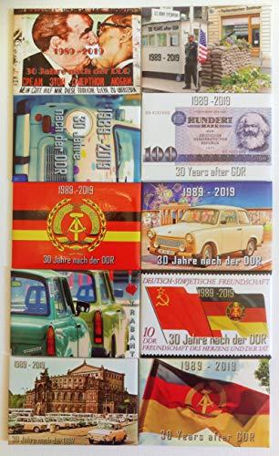 Öppningserbjudande! Kylskåpsmagnet 10 set! 30 år efter DDR