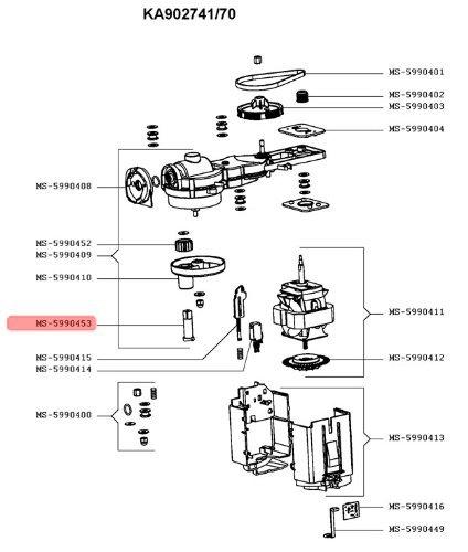 AXE PIGNON SUPPORT ACCESSOIRES POUR PETIT ELECTROMENAGER KRUPS - MS-5990453