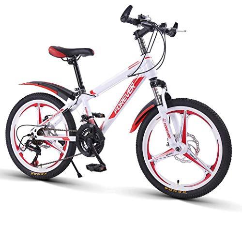 YANGHAO-Bicicleta de montaña para adultos- Bicicleta de montaña de velocidad variable de 20 pulgadas - 21 velocidades de montar cómodas, pedal antideslizante, tenedor de suspensión, freno seguro y sen