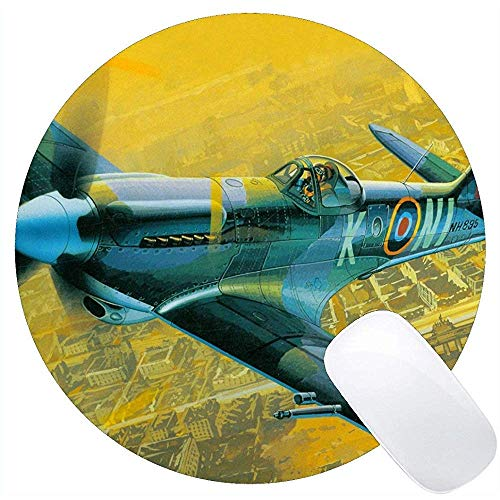 Office Bureau Pad Spitfire Fighter Vliegtuig Muis Mat Niet Slip Rubber Base Mousepad