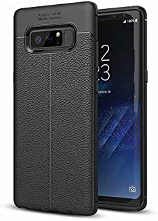 Black Phone Case for Samsung Galaxy Note 8, Shock Absorption Air Cushion Technology Drop Protection Phone Cover for Samsun...