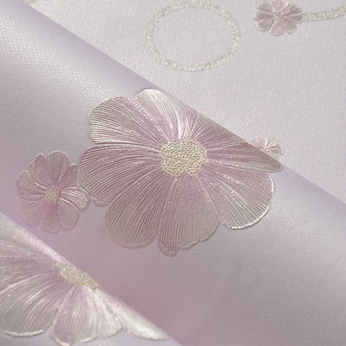 Reyqing Idyllische Europäische Blume Wallpaper, Non-Woven Stoff, 3D Dreidimensionale Schlafzimmer, Warme Mädchen Schlafsaal Tapeten, Hell-Lila Reis Ja 3103 3, Groß