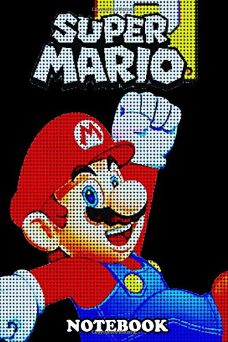 Notebook: Super Mario Bros Pixel , Journal for Writing, College Ruled Size 6' x 9', 110 Pages