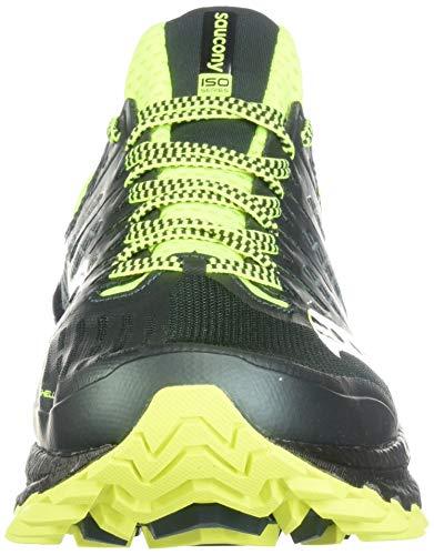 Saucony Xodus ISO 3, Zapatillas Hombre, Verde Amarillo, 44 EU