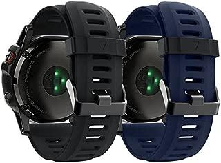 QGHXO Band for Garmin Fenix 3, Soft Silicone Replacement Watch Band Strap for Garmin Fenix 3/Fenix 3 HR/Fenix 5X/Fenix 5X Plus/Fenix 6X/Fenix 6X Pro Smart Watch