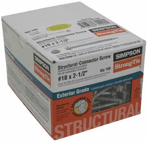 Simpson Complete Free Arlington Mall Shipping Strong-Tie SD10212R100#10x2.5 Conn Screw Pack of 1