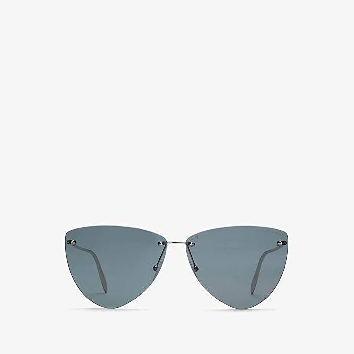 Alexander McQueen  AM0103S (Silver/Grey) Fashion Sunglasses