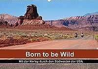 Born to be Wild - Mit der Harley durch den Suedwesten der USA (Wandkalender 2022 DIN A2 quer): Die landschaftlichen Highlights des amerikanischen Suedwestens im Sattel einer Harley (Monatskalender, 14 Seiten )