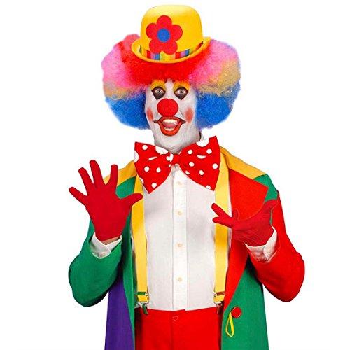 NET TOYS Gants Courts Rouge Gants de Clown avec Piqûre Gants Déguisement Accessoire Carnaval Gants pour Femme Accessoires