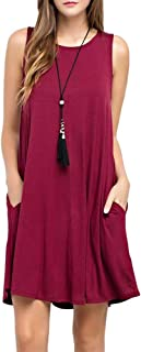 TOPONSKY Women`s Casual T-Shirt Long Sleeve Swing Dress