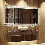 ARTTOR Espejos Pared - Espejo Baño - Decoracion Hogar - Espejos Decorativos - Muchos Tamaños - Pequeños y Grandes - Rectangulares y Cuadrados - M1ZP-51-80x60
