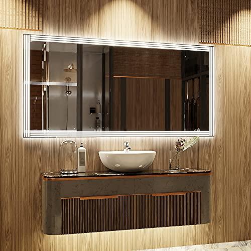 ARTTOR Espejos Pared - Espejo Baño - Decoracion Hogar - Espejos Decorativos - Muchos Tamaños - Pequeños y Grandes - Rectangulares y Cuadrados - M1ZP-51-100x40