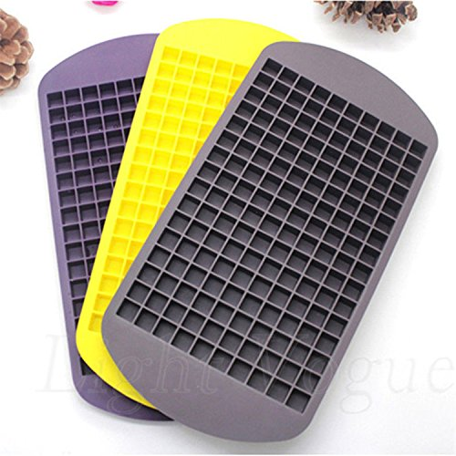 1PC Ice Cubes 160 Holes Frozen Mini Cube Silicone Ice Mold Mould Tray Pudding Tool