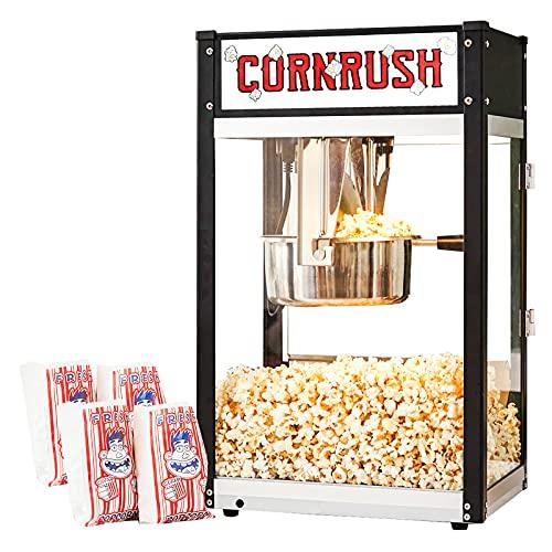 Cornrush Popcorn Popper Machine Tabletop Vintage Professional Popcorn Maker 8 OZ Theater Style with...