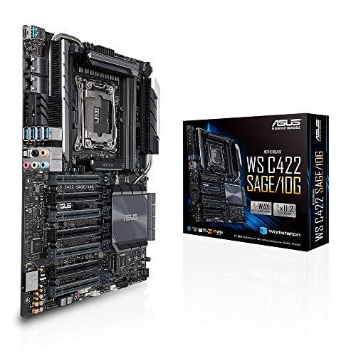 ASUS WS C422 SAGE/10G Workstation Mainboard (CEB, Intel W-2100 / W-2200 Serie, LGA 2066, 8x DDR4 2666 MHz, PCIe 3.0, SATA, U.2, M.2, NVME, SATA, 10-Gigabit Dual LAN)