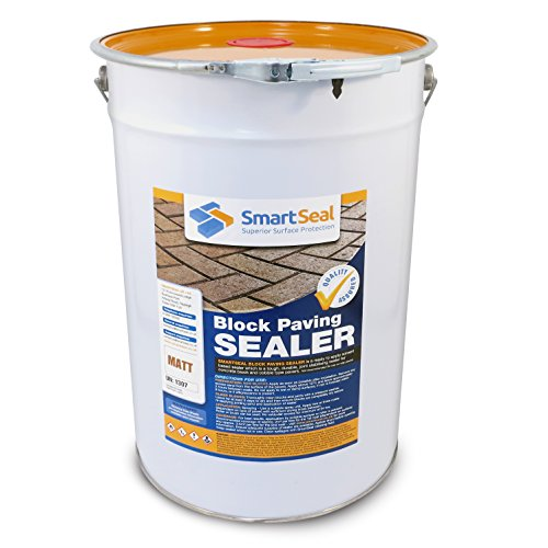 Smartseal Block Paving Sealer - MATT Finish - High Quality, Durable Sand Hardener & Weed Inhibitor for a MATT Look Finish on Block Paved Driveways and Patios; Seals & Protects (25 Litre)