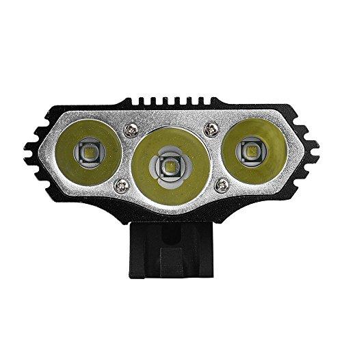 LED Fahrradbeleuchtung Frontscheinwerfer Frontlampe Set, Nourich 12000LM 3X CREE XM-L T6 LED Fahrradleuchte,Fahrradlicht, Aufladbare Fahrradlichter Fahrradrücklicht Scheinwerfer (Schwarz)