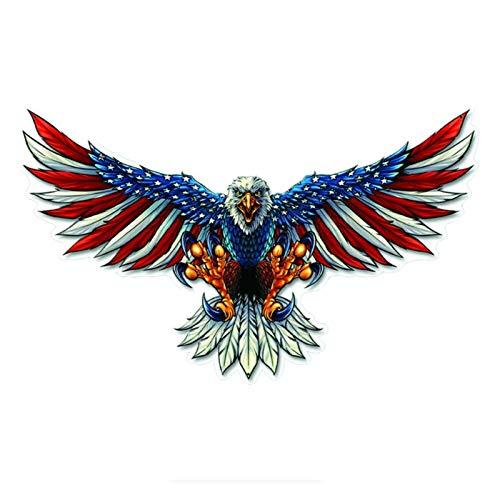 Eagle Bald Eagle Pegatina de automóviles AUTOMÁTICA AUTOMÁTICA Pieza DE Combustible Etiqueta Etiqueta Etiqueta DE Transporte Bald Eagle Sharp GARRAWS PVC Decal 15 cm * 9cm