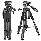 Neewer Portable 56 inches/142 centimeters Aluminum Camera Tripod with 3-Way Swivel Pan Head,Carrying