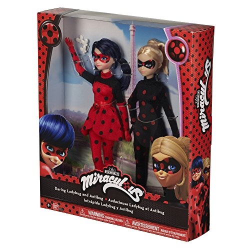 Prodigiosa: Las aventuras de Ladybug Pack 2 muñecas Ladybug 2 y Antibug (Bandai 39812)