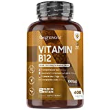 Vitamin B12 Tablets High Strength - 1000mcg - 400 Tablets (1+ Year Supply) Pure Methylcobalamin B12 Supplement for Men & Women, Immune System, Energy & Brain - Vegan Friendly - Made in The UK