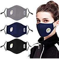 3 Pack Aniwon Anti Dust Pollution Mask with 6 Pcs Activated Carbon Filter