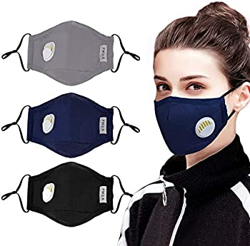 3 Pack Aniwon Anti Dust Pollution Mask