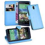 Cadorabo Coque pour HTC Desire 610 en Bleu CÉLESTE – Housse Protection avec Fermoire Magnétique, Stand Horizontal et...