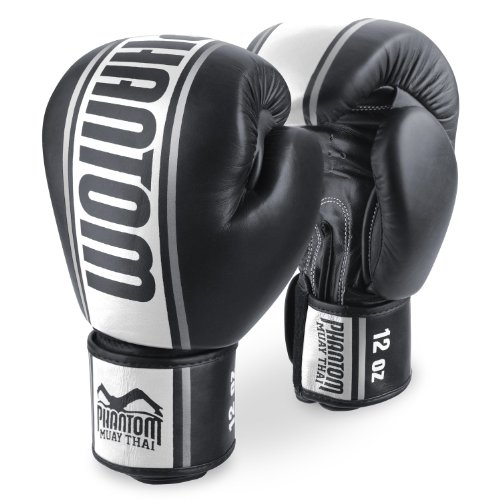 Phantom phbgmtpro-sw MT Pro Muay Thai Boxhandschuhe, schwarz/weiß