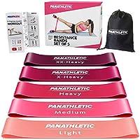 Panathletic Weerstandsbanden, Set van 5 Banden – 5 Verschillende Weerstandsniveau's, Handleiding met Oefeningen, eBook...