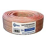 20m Cable de altavoz 2x2,5mm² CCA ronda trasparente marcas de longitud, Model 4806