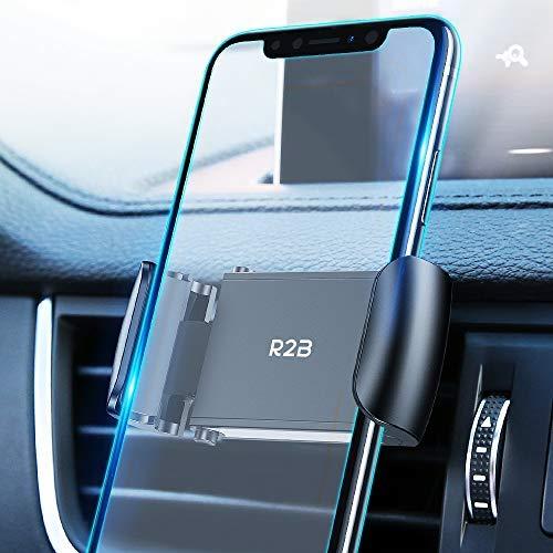 R2B Auto Handyhalterung Lüftung - Handy Autohalterung - Smartphone Halterung - Handyhalterung Auto Lüftung - Handyhalter Auto - Halterung handy auto - KFZ Handyhalterung - Universal - Schwarz