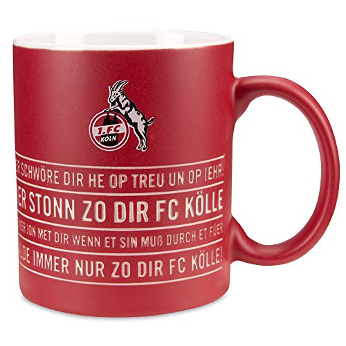1. FC Köln Tasse - Hymne - Kaffeetasse, Kaffebecher, Pott, Mug - Plus Lesezeichen I Love Köln