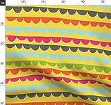 Girlande, Gelb, Blau, Orange, Pink, Streifen Stoffe -