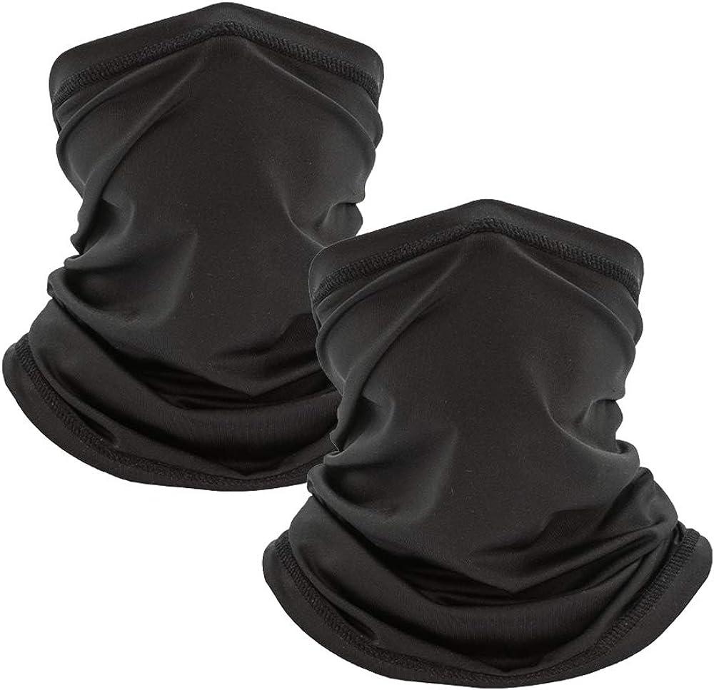 PFFY 2/4 Packs Neck Gaiter for Men Women Bandana Fabric Face Cover Mask Reusable