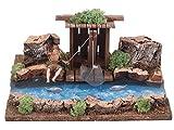 Ferrari & Arrighetti River parte in legno con pescatore Barrack, legno, multicolore, taglia unica