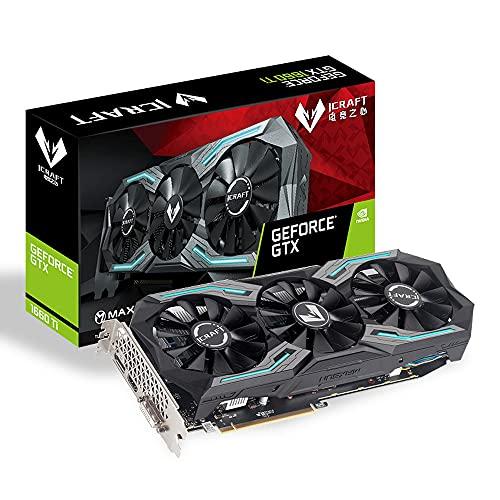 MAXSUN GeForce GTX 1660 Ti iCraft 6GB 192-bit GDDR6 Gaming Scheda grafica GPU con 3 ventole prestazioni raffreddamento e illuminazione RGB