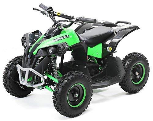 Actionbikes Motors Mini Kinder Elektro Quad ATV RENEBLADE 1000 Watt Pocket Quad - Original Saefty Touch Fußschalter - 36 Volt - Kinder Pocketquad (Schwarz/Grün)